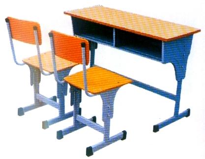 Двойна маса със столче
