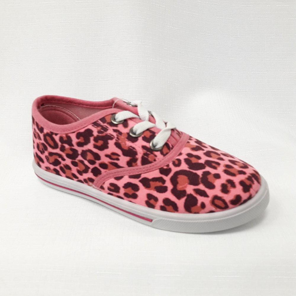 Розови леопардови детски гуменки.